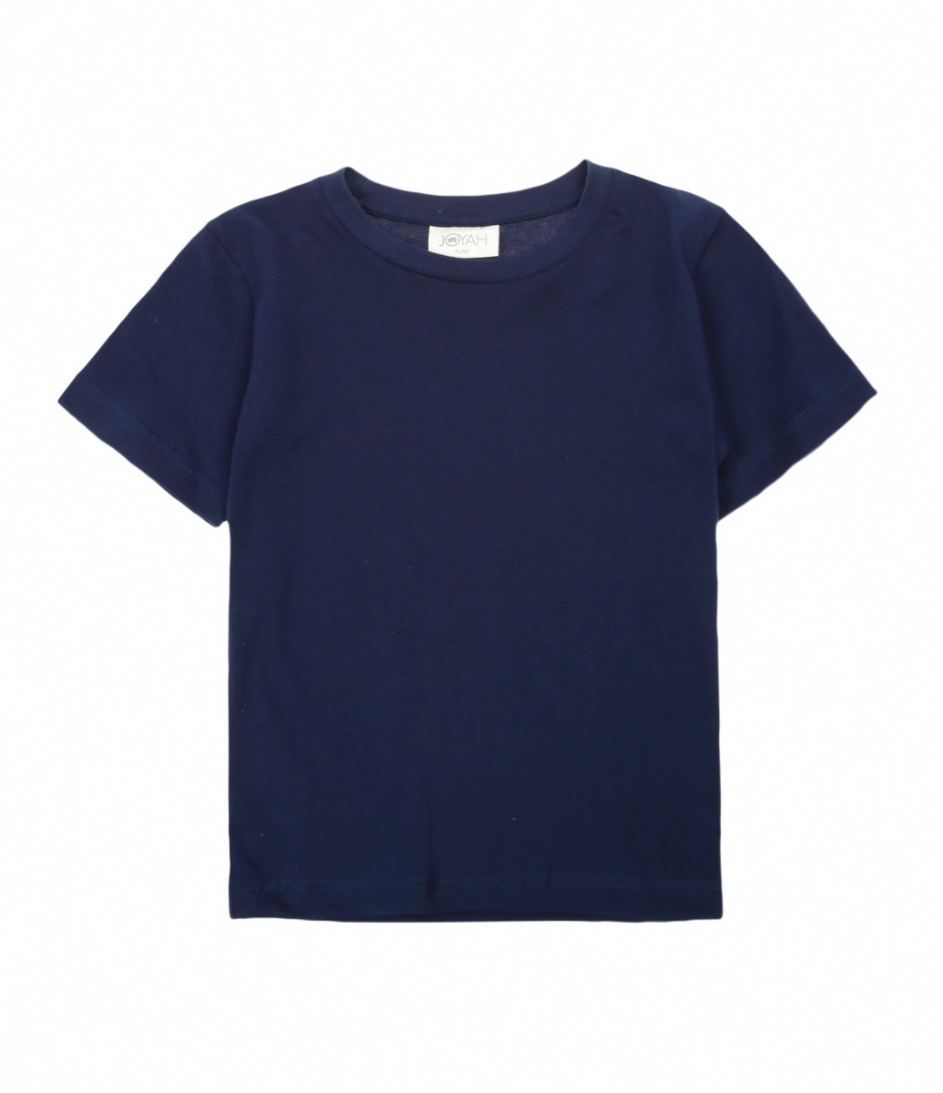 2d14f73830d Kids T-shirt in Organic Cotton - Blue Navy