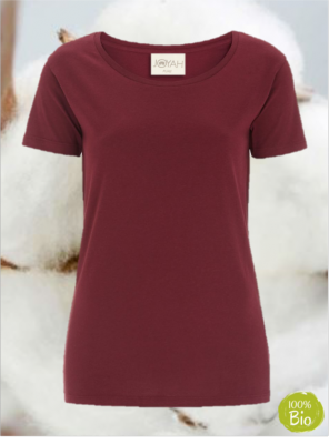Women T-shirt in Organic Cotton - Burgundy