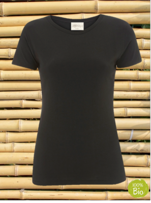 Women T-shirt in Bamboo - Eggplant