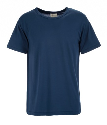 Men T-shirt in Bamboo - Blue Denim