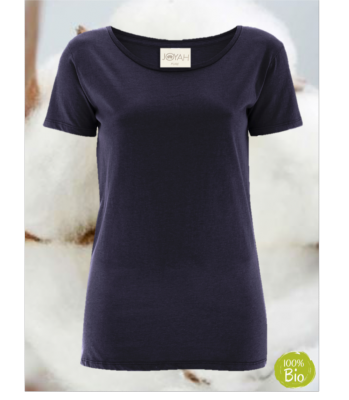 Women T-shirt in Organic Cotton - Blue Navy