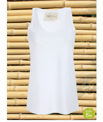 Women Top in Bamboo - White