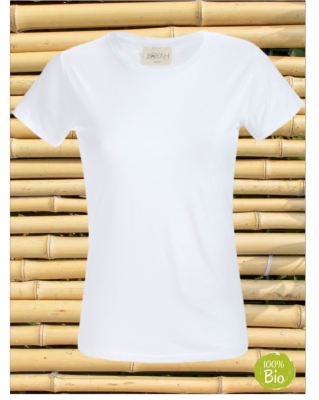 Women T-shirt in Bamboo - White