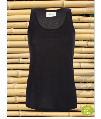 Women Top in Bamboo - Black